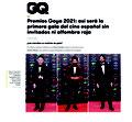 revista GQ: premios GOYA 2021. 2 Marzo 2021.