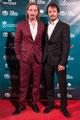 Enrique Asenjo e Iván Massagué de VRL   PACO VARELA en la gala de clausura de FIC Gáldar · Festival Internacional de Cine de Gáldar. 8 Octubre 2016.