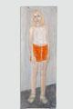 """Jagoda"", 2004, Holz. 180 x 65 x 10 cm, Sammlung Angermuseum Erfurt"