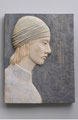 """Frau"", 2012, Holz, 44 x 34 cm"