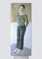 """Yoko"", 2000, Holz, 175 x 72 cm Sammlung Angermuseum Erfurt)"