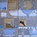 Bain bleu 4x30x30 or