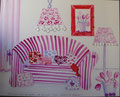 Interieur au canapé rose 100x80