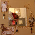 Miroir sepia lin 60x60 star