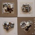 Coeurs et carrés 4x30x30 gold