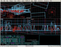 wire-frame view of Spook™:  Digital Yorktown© 3D graphics environment