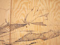 Spook Sets, The Dead Zone #2 (detail), 2008, Permanent Ink on Plywood, 8' x 12'