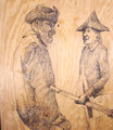 Spook Sets, American Guard Post (detail), 2008, Permanent Ink on Plywood
