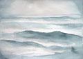 Studie für monochrome Malerei, Wellen im Gegenlicht, Enno Franzius