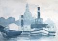 Studie für monochrome Malerei, Raddampfer vor der Frauenkirche Dresden 1, Enno Franzius