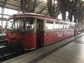 Der Moorexpress... Schienensystem ca 1910, Der umgebaute Bus aus den 60-70 Jahren.