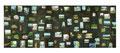 スクラップブックのような絵画#7(無人の風景)/2012/木製パネルに印刷物、アクリル、顔料、石膏、ジェッソ、メディウム、他 /1730×4600×45 mm