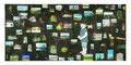 スクラップブックのような絵画#6(僕達の記憶Ⅱ)/2012/木製パネルに印刷物、アクリル、顔料、石膏、ジェッソ、メディウム、他 /1730×3680×45 mm