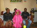 links Agnes, Tatjana die Tochter, dahinter eine Schwester von Martin und rechts Martin