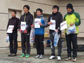 9km男子表彰式