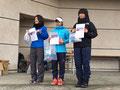 9km女子表彰式