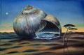 """Oase"" (2016), 60 x 40 x 4 cm, Öl auf Leinwand"