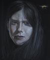 """""""Gewitterstimmung"""", (2016), 50 x 60 cm, Graphit/Acryl auf Leinwand"""