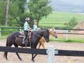 mit den Pferden Cody und Aprin