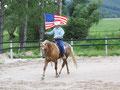 """""""Bekennender"""" Westernreiter - Andy & Star mit der amerikanischen Flagge"""