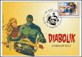 Cartolina FDK 220 - Milanofil 2012 - Annullo Filatelico Diabolik