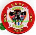 """FDNY Eng. 225 Ladder 107 Batt. 39 """"Lincoln Linden"""",  4"""" dia."""