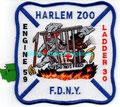 "FDNY Engine 59 / Ladder 30 ""Harlem Zoo"" (5"" x 5"")"