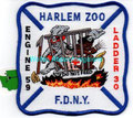 "FDNY Engine 59 / Ladder 30 ""Harlem Zoo"" (5"" x 5"")"