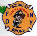 FDNY Squad 61, blue trim