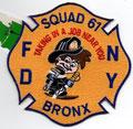 FDNY Squad 61, blue trim