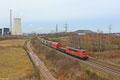 155 068 mit EZ 52083 Gremberg Gsf - Saarbrücken Rbf Nord am 06.02.2014 am Kraftwerk Ensdorf