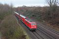 111 169 mit RE-D 4273 Trier Hbf - Mannheim Hbf kurz hinter Dillingen am 10.02.14