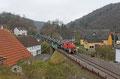 294 838 mit M 62576 Neunkirchen(S) Hbf - Heimbach DB/RPE (Baumholder) am 03.02.14 in Heimbach (Nahe) Ort  (Sdl. Militär)