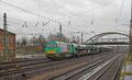 CTD 272 404 mit LOCON Sonderleistung DGS 45708 Dillingen Ford/DB - Vlissingen/NL am 08.02.14 bei der Ausfahrt Dillingen(Saar)