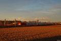 """181 204 mit IC 2054 von Frankfurt/Main nach Saarbrücken kurz vor Sonnenuntergangam am 07.02.14 auf der """"Umfahrung Schifferstadt"""" bei Böhl-Iggelheim"""