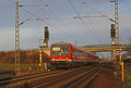 628 210 und ein weiterer 628er für den BASF Werksverkehr unterwegs als als RB 38924 Ludwigshafen(Rhein) BASF Nord - Neustadt(Weinstr)Hbf am 08.02.14. , hier bei der Ausfahrt in Haßloch.