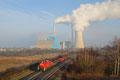 294 589 mit der Übergabe EK 55932 aus Dillingen(Saar) nach Bous, in der Morgensonne am Kraftwerk Ensdorf (27.02.14)