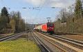 185 180 mit EZ 44440 Forbach/F - Mannheim Rbf Gr.K (Sdl. leere EKW) am 06.02.14 in Dudweiler