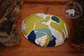 Traubenkernkissen grosser Saphir | Oval | Farben: verschiedene Grüntöne, Weiss, Blau