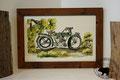 Glasbild: Oldtimer-Motorrad Rudge Multi -(1914)