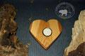 Holz Herzkerzenständer aus Kirschabaumholz