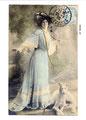 Barzoï  14 (repro carte postale ancienne, Coll. Manializa)