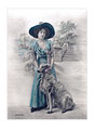 Barzoï  10 (repro carte postale ancienne, Coll. Manializa)