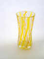 レースガラス 花瓶 イエロー