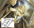 Schacht des Panzerwerks 714 mit Stahltreppe