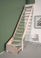 Alsace escalier 1/4 tournant sans rampe
