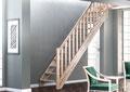 Provence escalier avec rampe moulurée