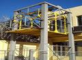 Estructura elevadora de coches en hierro (desmontable).