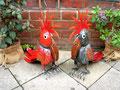 Handgefertigte Kakadus aus Metall - die farbenfrohen Modelle