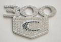 Эмблема Chrysler 300C Iced Out Crystal на багажник                            $90